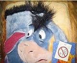 Disney Winnie the Pooh Eeyore Esel Kissen Cover 3D Plüsch-Bezug 35cm x 35cm (35,6x 35,6cm) ca. Größe Braun