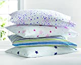 #6: Crazy Basic Printed Pillow ( Feel like Cotton Filled Pillow | Set of 4 Pillows | Not too Soft Not Too Hard| Medium Hardness like Cotton Pillows))