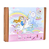 All Things Magical Craft Kit   Includes Beautiful Felt Unicorn Mask Kit   6 Different Crafts-in-1   Best Gift for Girls Ages 5 to 8 years (6 in 1)