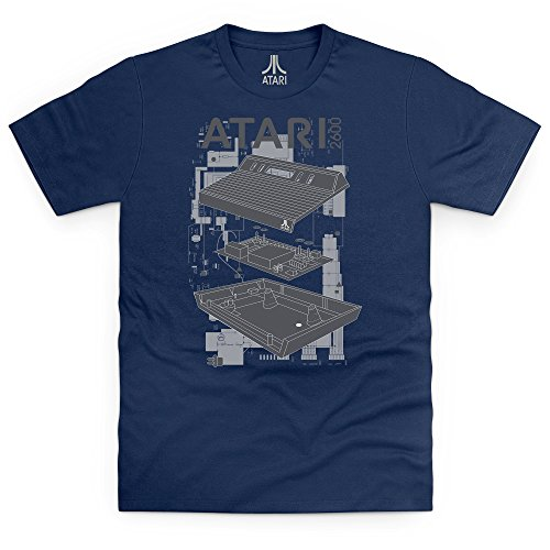 Official Atari 2600 T-shirt, Uomo Blu navy