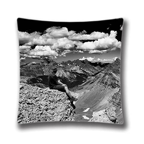 Custom Throw Pillow Cover Cushion Cover 16X16 inches Square Pillowcase Colorado Pass Black And White Decorative Pillow Cover AnasaC32429