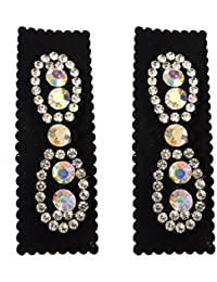 Salvus App SOLUTIONS Designer White Stone 2 Hair Clips For Women Girls Hair Accessories Hair Clip And Clutches