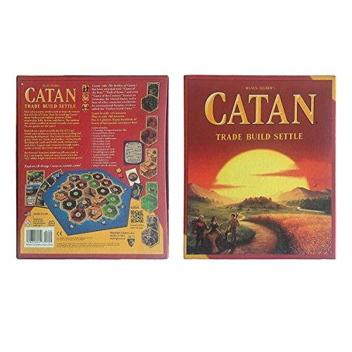 JullyeleDEgant Catan Brettspiel Familie Spaß Spielkartenspiel Pädagogisches Thema Englisch Spaß Kartenspiel Indoor Tisch Party Game