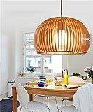 Uncle Sam LI-Wood Art Kronleuchter Nordic minimalistische Restaurant Kronleuchter