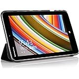 ELTD® Funda de piel de cuerpo entero para Lenovo Miix 2 8 Tablet con Auto Sleep/Wake Function (Para Lenovo Miix 2 8, Negro)