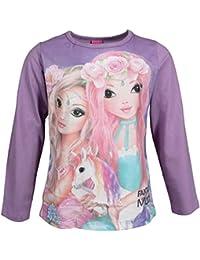 Top Model, supermodelo niñas Camiseta, T-Shirt, Manga Larga, Violeta