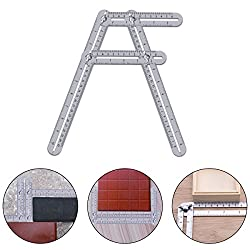 Vickmall Angleizer Measuring Ruler Multi-angle Template Tool Angle Finder Stainless Steel Folding Ruler Universal Measuring Instrument For Builders Handymen Craftsmen