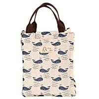 Wansan Thermal Insulation Lunch Pouch Picnic Box Portable Cooler Sacks Insulated Storage Container Picnic Tote Sacks Thicken Lunch Bag Whale