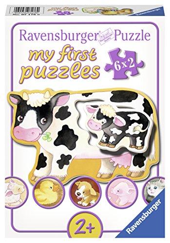 Ravensburger Puzzle 07176 - Mi primer puzzle animales y sus hijos, 6 x 2 partes, colorido