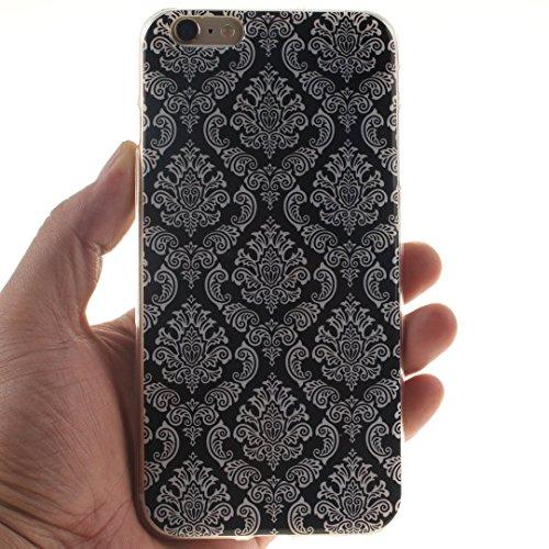 Xf-fly® iPhone 6 / 6S Hülle mit TPU Silikon Material und Retro Farblich Muster Schutzhülle Handytasche für Apple iPhone 6 / 6S(4.7 Zoll) P-5