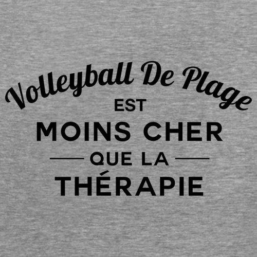 Volleyball de plage est moins cher que la thérapie - Femme T-Shirt - 14 couleur Gris