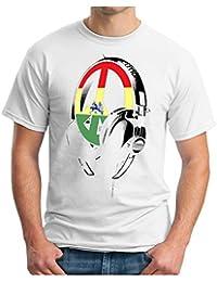 OM3 - RASTA BEATS REVOLUTION - T-Shirt TURNTABLES PEACE AFRICA JAMAICA MUSIC, S - 5XL