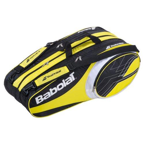 Babolat Tennistasche Club Line Racket Holder 12er, 74 x 33 x 34 cm gelb/schwarz