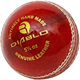 RMAX Diablo Leather Cricket Ball (Red)