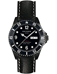 University Sports Press EX-D-MBB-40-CL-BL - Reloj de cuarzo unisex, correa de cuero color negro