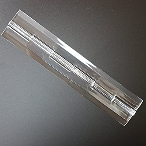 5 x Effacer Piano plastique acrylique de charnière 200mm