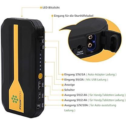 51HrOZD5ciL. SS416  - Homelody Arrancador Coche 13600mAh ,500A Jump Starter para la coche 4.0L Gasolina y 2.0L Diesel,Cargador Batería &Power Bank con Puerto de USB y La Linterna LED para Teléfono Móvil y Tableta