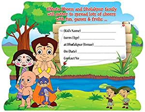 Chhota Bheem Birthday Invitations - 10 Count