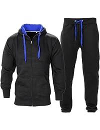 NOROZE Homme Contraste Corde Sweat à Capuche Pantalon Gym Survêtement Taille  S M L XL 3fab61ec2123