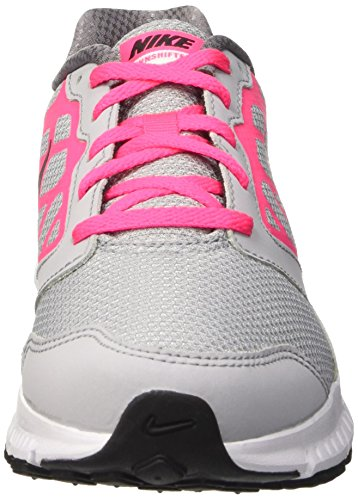 Nike Downshifter 6 (Gs/Ps) Scarpe Sportive, Ragazza Multicolore (Wolf Grey/Black-Hyper Pink-Wht)