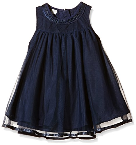 NAME IT Mädchen Kleid NITPAKEL M SPENCER WL 615 GER, Einfarbig, Gr. 104, Blau (Dress Blues)