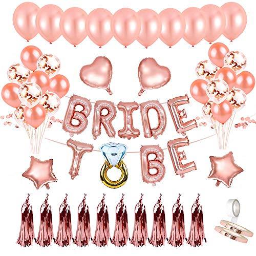 Mingco JGA Deko Ballon Girlande, Bride to Be Deko, Konfetti Luftballons, Foto Booth Props für Tochter Mädchen Abschied Verlobung Party, Junggesellinnenabschied Deko