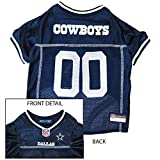 Dallas Cowboys Dog Mesh Jersey (Medium) by Pets First
