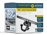 Weltmann 7B500015 VW GOLF VII Kombi (BA5) - Abnehmbare Anhängerkupplung inkl. fahrzeugspezifischem 13-poligen Elektrosatz 7