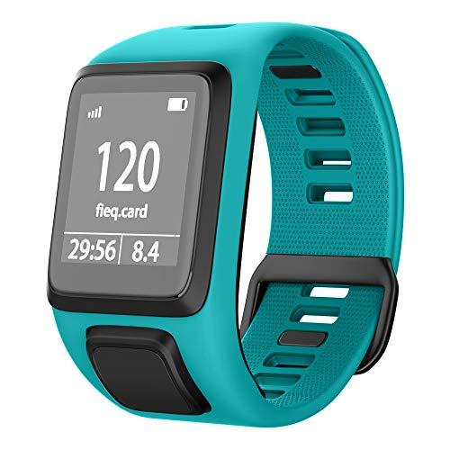 NotoCity Tomtom Runner 3 Armband/Runner 2/Spark 3/Adventurer/Golfer 2 Uhrenarmband Silikon Uhrenbänder für Tomtom Watch (Dunkelgrün)