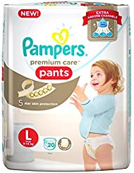 Pampers New Premium Care Large Size Diapers Pants (20 Count)