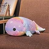 NIANMEI 37/46/58 cm Colorido Felpa Dinosaurio Peces Juguetes de Peluche Relleno de algodón salamandra Gigante muñeca de Juguete para niños Almohadas Suaves @ 46Cm_Purple