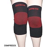 COMPRESSX Ginocchiera Supporto per Dolori Articolari, Artrite e Recupero da Lesioni- di Ausilio per Correre, Sport e Camminare!