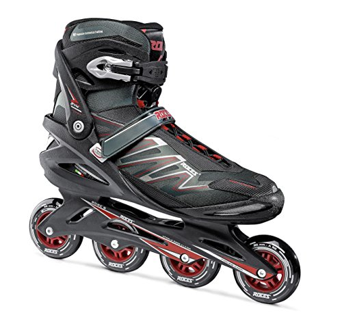 Roces Herren Inline-skates Big Zyx, schwarz (black/Crimson red), 51, 400812
