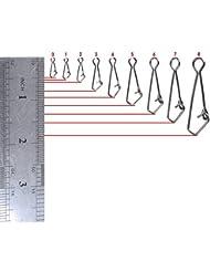 """100pcs Dr. Peces Hooked Snap 5,4A 182lb mar salada agua dulce Pesca Tackle Rig conector clip enlace resistencia a la corrosión Bass Pike Trucha, #8_182lbs(80kg)_1.9""""(48mm)"""