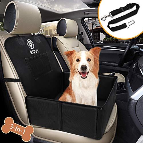 Wimypet Coprisedile per Cane con Cintura di Sicurezza, Robusta Seggiolino Auto per Cani, Coprisedile Anteriore Singolo Impermeabile Pieghevole Coprisedili per Animali Domestici