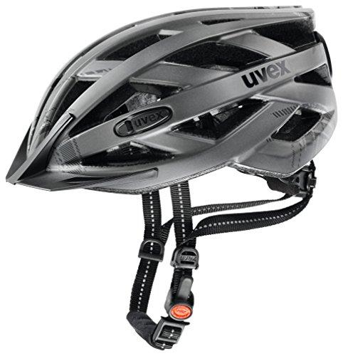 UVEX Erwachsene Fahrradhelm City I-VO, Dark Silver Burberry Mat, 52-57 cm, 4104190215