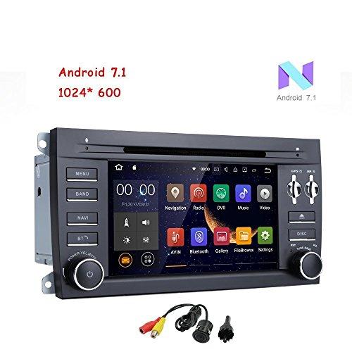 freeauto für Porsche Cayenne 17,8 cm 2 DIN Android 7.1 Quad Core Auto Stereo 1024 HD Touchscreen Autoradio Receiver DVD GPS Navigation mit Rückfahrkamera