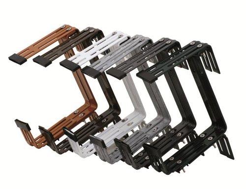 Siena Garden Blumenkastenhalter Premium, 3-fach verstellbar, braun, 2 Stück, 897658