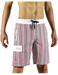 edb72524cc SAFS Men Board Shorts Quality Swim Trunks - Swimwear Nutmeg Pink 30
