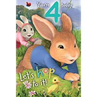 "Peter Rabbit PE014""4th"" Birthday Card"