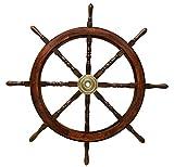 Schiffssteuerrad 106cm Schiffsrad Steuerrad Schiff Schiffe Boot Holz Antik-Stil