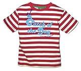 Little Green Radicals - Maglietta in cotone organico 'Catch Of The Day' Bambino, colore: Bianco/Rosso, 2-3 anni