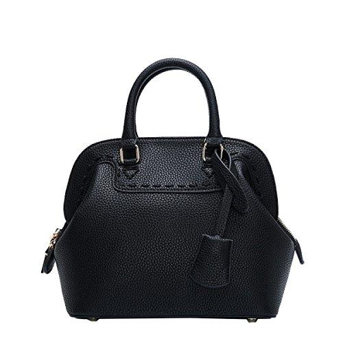 Yy.f New Handbag Bag Borsa A Tracolla Portatile In Rilievo Ms. Sacchetto Solido Pacchetto Sacchetto 3 Colori Borse Nero
