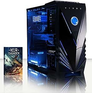 VIBOX Apache 9XSW - 4.1GHz Six Core, GTX 960 Advanced, Desktop Gaming PC, Computer with Windows 10 Operating System, WarThunder Game Bundle AND a Neon Blue Internal Lighting Kit PLUS a Lifetime Warranty Included* (New 3.5GHz (4.1GHz Turbo) AMD FX 6300 Fast Six 6-Core Processor, 2GB Nvidia Geforce GTX 960 Graphics Card, Raijintek Aidos CPU Fan Cooler, 2TB Hard Drive, 8GB 1600MHz RAM)