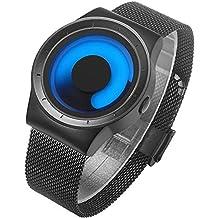 BIDEN Relojes para Hombre de Moda Reloj de Pulsera Casual de Lujo Diseño único Cool Acero