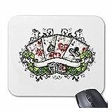 Reifen-Markt Mousepad (Mauspad) Poker Casino BIKERSHIRT KARTENSPIEL WÜRFELSPIEL GLÜCKSSPIEL für ihren Laptop, Notebook oder Internet PC (mit Windows Linux usw.) in Weiß