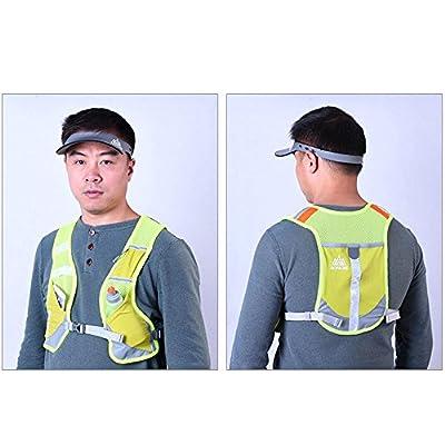 FYINN Reflektierende Weste Laufbekleidung Ultra Light & Comfy Motorrad Reflektierende Weste Große Tasche Verstellbare Bands & Tasche