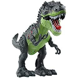 YIER juguetes electrónicos verde que recorre Tyrannosaurus Rex