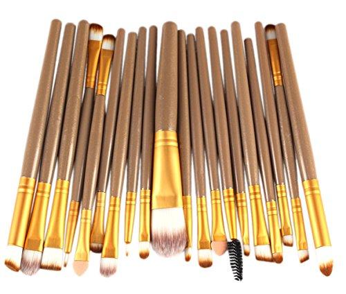 Bigood Kit Pinceaux de Maquillage Lot de 20 Make up Sourcil Yeux Professionnel