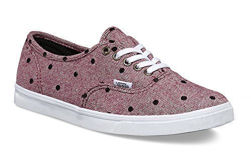 Skate Rot Schuhe Vans (Vans LPE Canvas, Unisex-Adults 'Sneaker – Variation, Rot - Burgundy/True White Tweed Dots - Größe: 43 EU Frau/42.5 EU Herren)